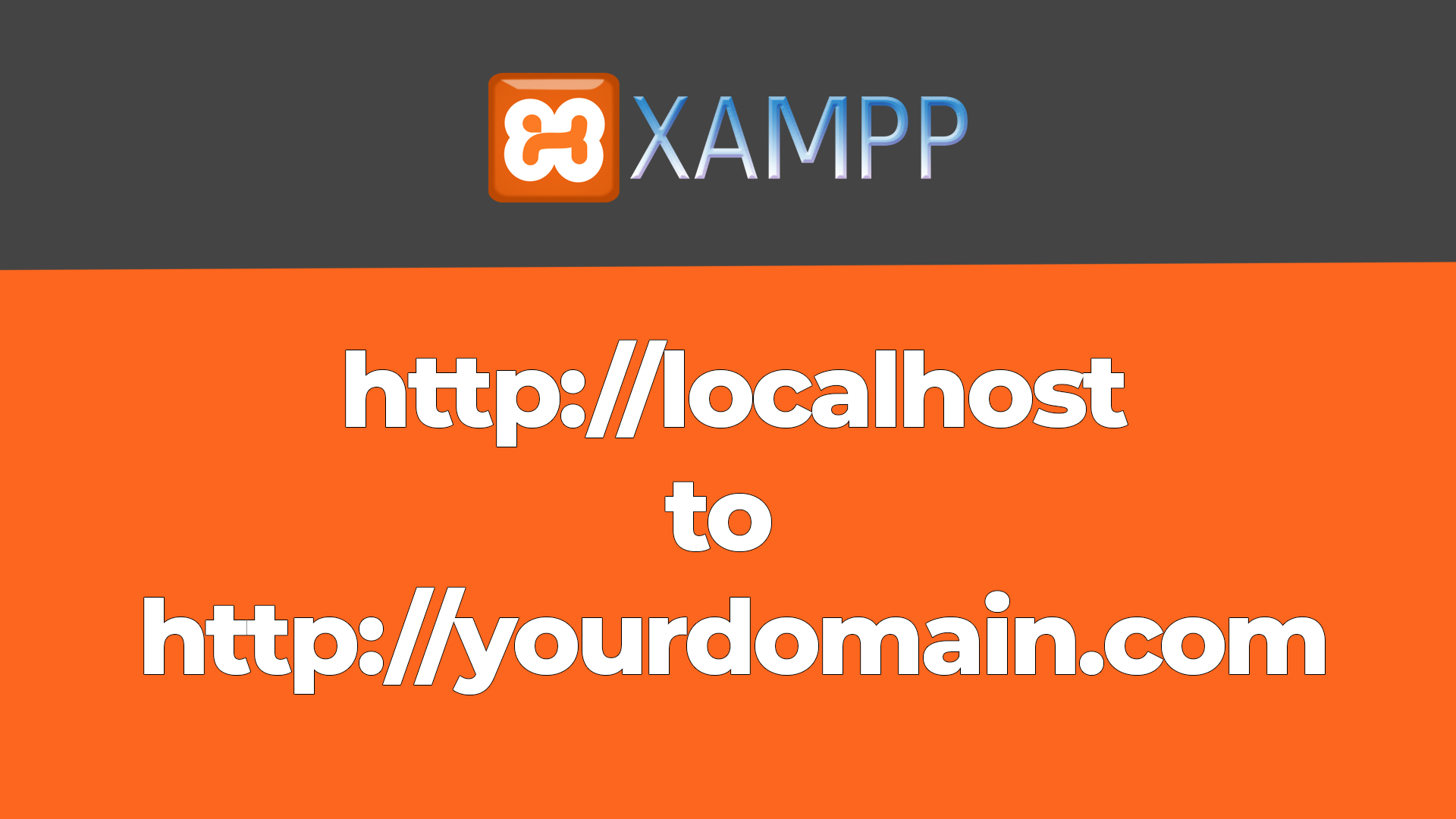 How to change localhost to custom domain name in 2 Steps